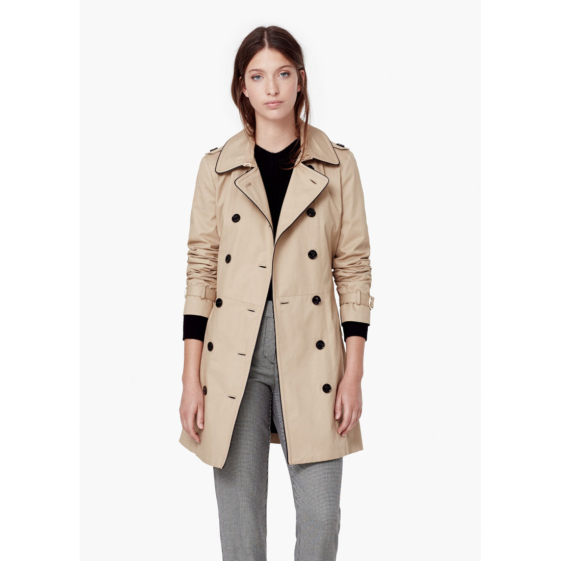 MANGO Cotton-blend trench coat